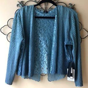 NWT Crinkle Lace Evening Jacket